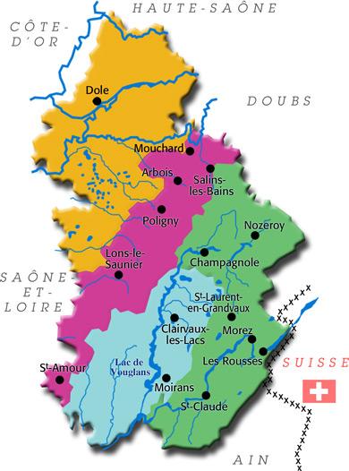 Le Jura Carte.Jura