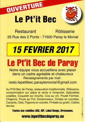 -  - Restaurant - Rotisserie Le Pt'it Bec de Paray - 1